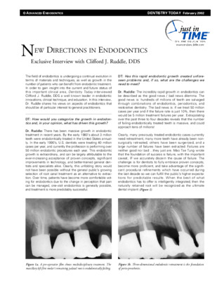 New Directions in Endodontics