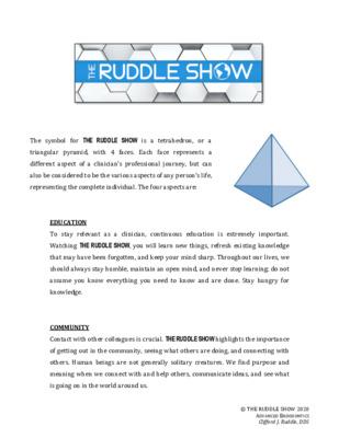 The Ruddle Show Tetrahedron