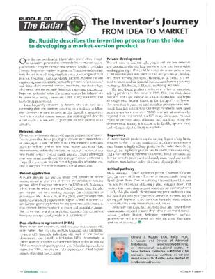 Ruddle on the Radar Article