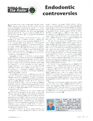 Ruddle on the Radar: Endodontic Controversies