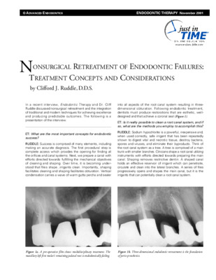 """NSRCT of Endodontic Failures"""