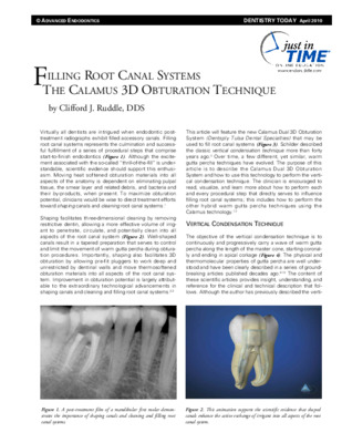 """Filling Root Canal Systems"""